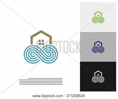 Infinity House Logo Vector Template, Creative Infinity Logo Design Concept