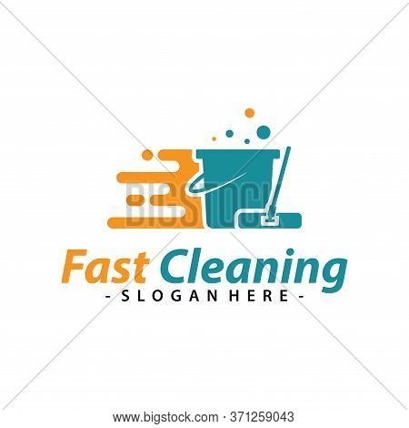Fast Cleaning Service Logo Vector. Creative Cleaning Logo Template Design.