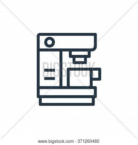 Coffee Machine Vector Icon. Coffee Machine Editable Stroke. Coffee Machine Linear Symbol For Use On