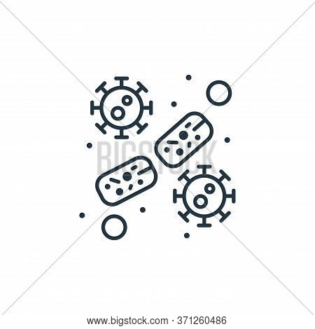 Bacteria Vector Icon. Bacteria Editable Stroke. Bacteria Linear Symbol For Use On Web And Mobile App
