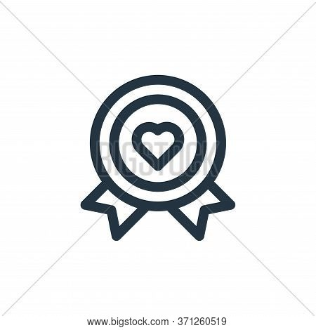 Medal Vector Icon. Medal Editable Stroke. Medal Linear Symbol For Use On Web And Mobile Apps, Logo,