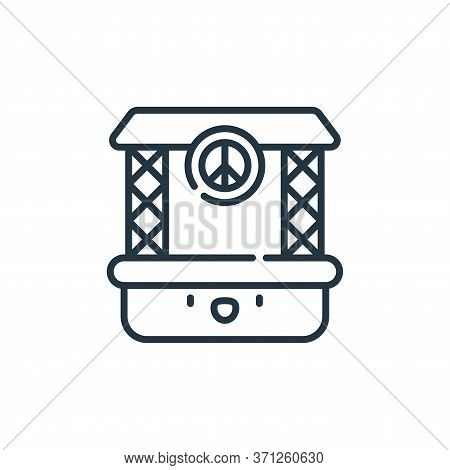 Concert Vector Icon. Concert Editable Stroke. Concert Linear Symbol For Use On Web And Mobile Apps,