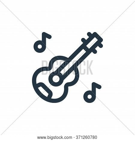 Acoustic Guitar Vector Icon. Acoustic Guitar Editable Stroke. Acoustic Guitar Linear Symbol For Use