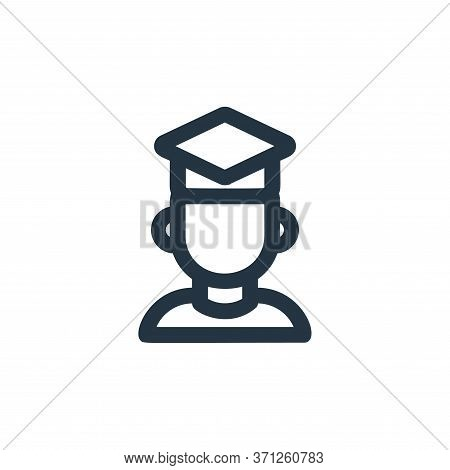 Graduation Vector Icon. Graduation Editable Stroke. Graduation Linear Symbol For Use On Web And Mobi