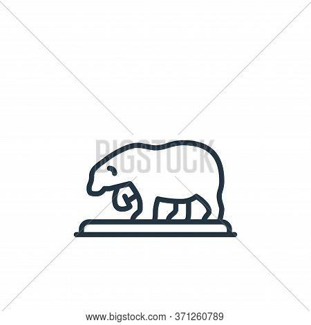 Polar Bear Vector Icon. Polar Bear Editable Stroke. Polar Bear Linear Symbol For Use On Web And Mobi