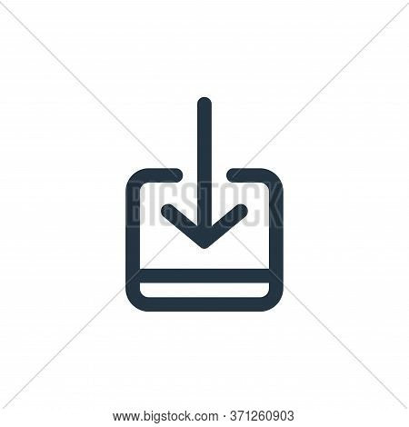 Receive Vector Icon. Receive Editable Stroke. Receive Linear Symbol For Use On Web And Mobile Apps,