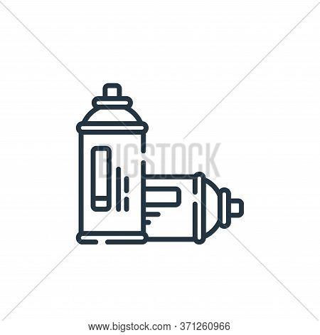 Spray Paint Vector Icon. Spray Paint Editable Stroke. Spray Paint Linear Symbol For Use On Web And M