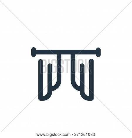 Curtain Vector Icon. Curtain Editable Stroke. Curtain Linear Symbol For Use On Web And Mobile Apps,