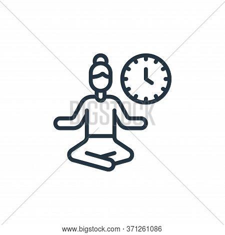 Break Time Vector Icon. Break Time Editable Stroke. Break Time Linear Symbol For Use On Web And Mobi
