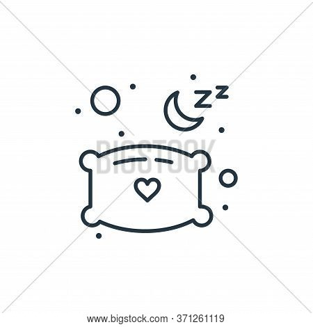 Pillow Vector Icon. Pillow Editable Stroke. Pillow Linear Symbol For Use On Web And Mobile Apps, Log