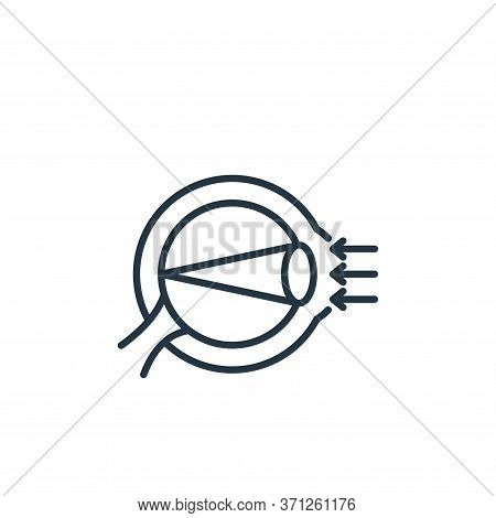 Refraction Vector Icon. Refraction Editable Stroke. Refraction Linear Symbol For Use On Web And Mobi