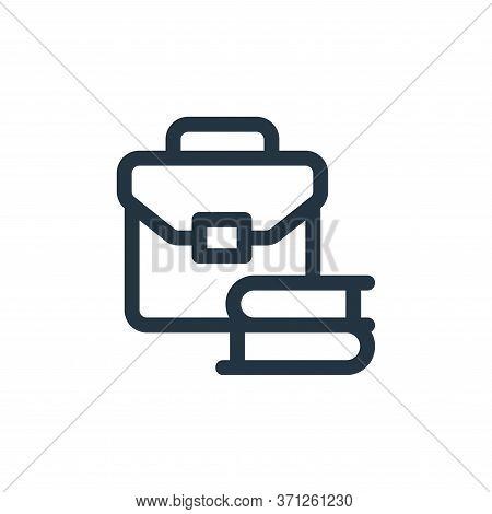 Briefcase Vector Icon. Briefcase Editable Stroke. Briefcase Linear Symbol For Use On Web And Mobile