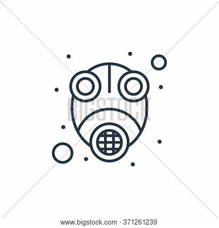 Gas Mask Vector Icon. Gas Mask Editable Stroke. Gas Mask Linear Symbol For Use On Web And Mobile App