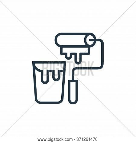 Paint Roller Vector Icon. Paint Roller Editable Stroke. Paint Roller Linear Symbol For Use On Web An