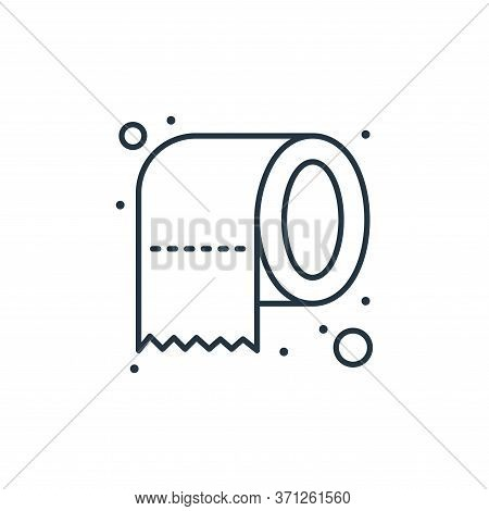 Toilet Paper Vector Icon. Toilet Paper Editable Stroke. Toilet Paper Linear Symbol For Use On Web An