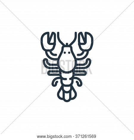 Lobster Vector Icon. Lobster Editable Stroke. Lobster Linear Symbol For Use On Web And Mobile Apps,