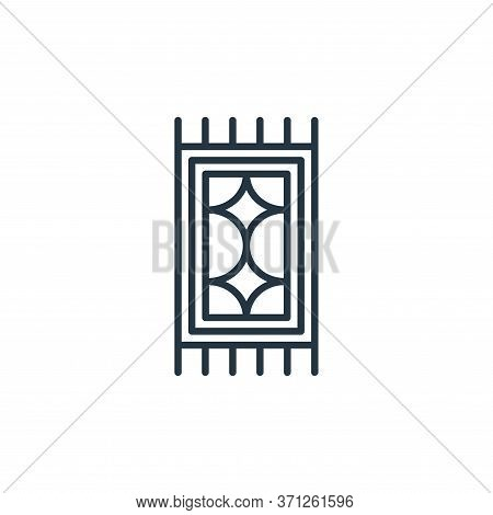 Carpet Vector Icon. Carpet Editable Stroke. Carpet Linear Symbol For Use On Web And Mobile Apps, Log