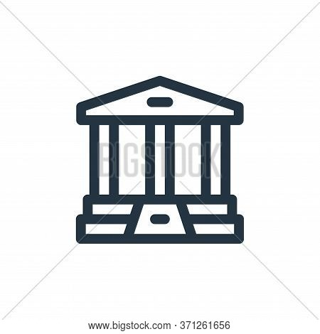 Bank Vector Icon. Bank Editable Stroke. Bank Linear Symbol For Use On Web And Mobile Apps, Logo, Pri