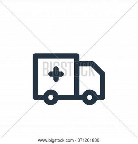 Ambulance Vector Icon. Ambulance Editable Stroke. Ambulance Linear Symbol For Use On Web And Mobile