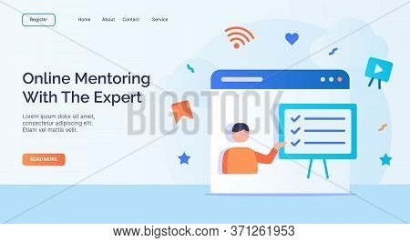Online Mentoring With The Expert For Campaign Web Website Home Homepage Landing Page Template With F
