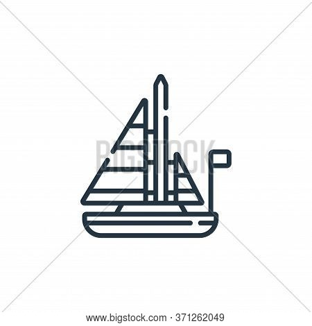 Sailboat Vector Icon. Sailboat Editable Stroke. Sailboat Linear Symbol For Use On Web And Mobile App