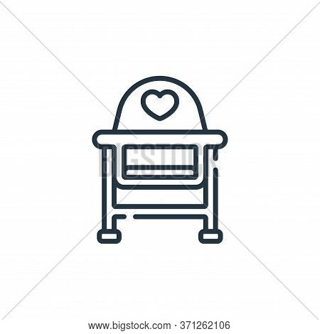 Baby Chair Vector Icon. Baby Chair Editable Stroke. Baby Chair Linear Symbol For Use On Web And Mobi