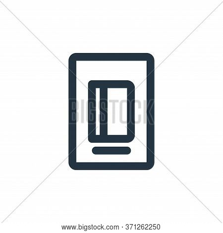 Ebook Vector Icon. Ebook Editable Stroke. Ebook Linear Symbol For Use On Web And Mobile Apps, Logo,