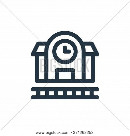 Train Station Vector Icon. Train Station Editable Stroke. Train Station Linear Symbol For Use On Web