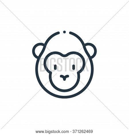 Gorilla Vector Icon. Gorilla Editable Stroke. Gorilla Linear Symbol For Use On Web And Mobile Apps,