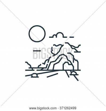Cave Vector Icon. Cave Editable Stroke. Cave Linear Symbol For Use On Web And Mobile Apps, Logo, Pri