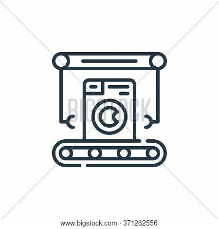 Washing Machine Vector Icon. Washing Machine Editable Stroke. Washing Machine Linear Symbol For Use