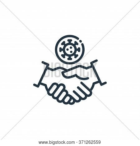 Handshake Vector Icon. Handshake Editable Stroke. Handshake Linear Symbol For Use On Web And Mobile