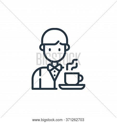 Waiter Vector Icon. Waiter Editable Stroke. Waiter Linear Symbol For Use On Web And Mobile Apps, Log