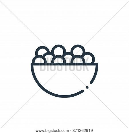 Candies Vector Icon. Candies Editable Stroke. Candies Linear Symbol For Use On Web And Mobile Apps,