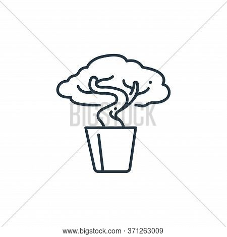 Bonsai Vector Icon. Bonsai Editable Stroke. Bonsai Linear Symbol For Use On Web And Mobile Apps, Log