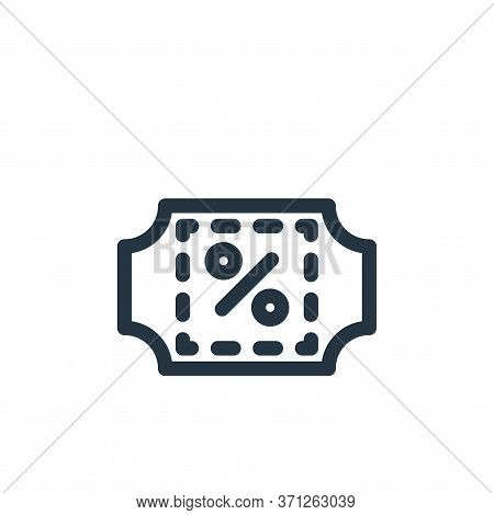 Discount Vector Icon. Discount Editable Stroke. Discount Linear Symbol For Use On Web And Mobile App