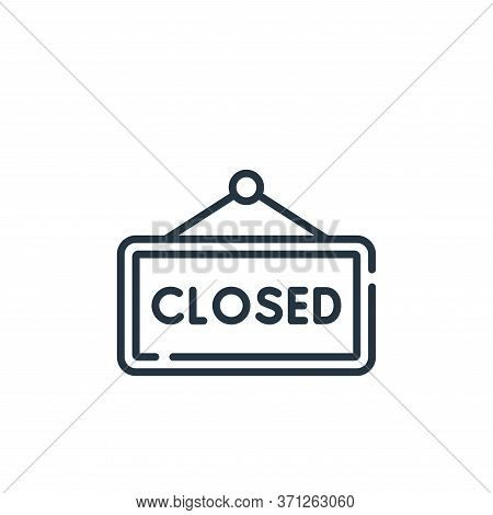 Closed Sign Vector Icon. Closed Sign Editable Stroke. Closed Sign Linear Symbol For Use On Web And M