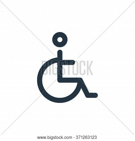 Disability Vector Icon. Disability Editable Stroke. Disability Linear Symbol For Use On Web And Mobi