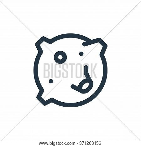 Moon Craters Vector Icon. Moon Craters Editable Stroke. Moon Craters Linear Symbol For Use On Web An