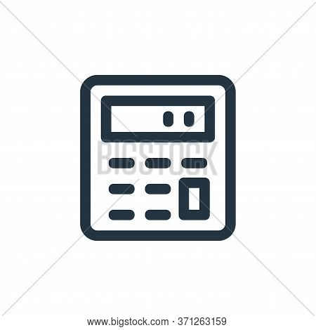 Calculator Vector Icon. Calculator Editable Stroke. Calculator Linear Symbol For Use On Web And Mobi