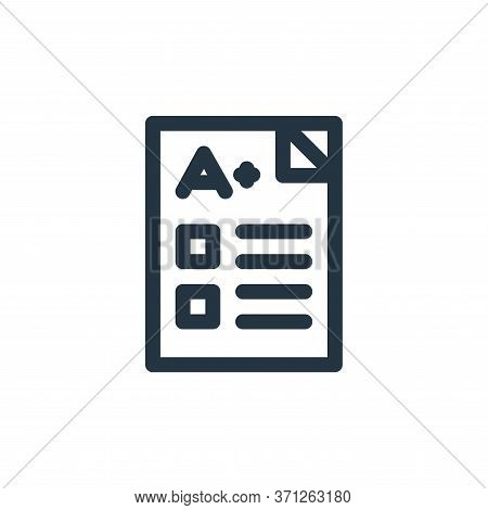 Exam Vector Icon. Exam Editable Stroke. Exam Linear Symbol For Use On Web And Mobile Apps, Logo, Pri