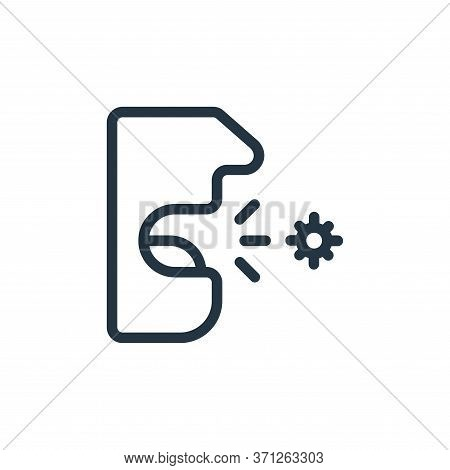 Cough Vector Icon. Cough Editable Stroke. Cough Linear Symbol For Use On Web And Mobile Apps, Logo,