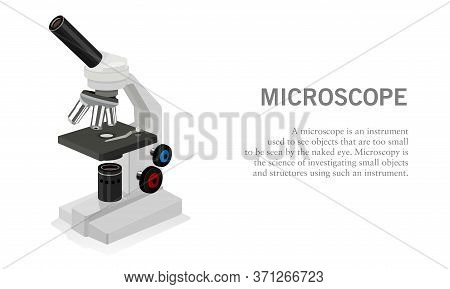 Vector Illustration Of A Laboratory Microscope Unit. Suitable For Design Elements Of Science Experim