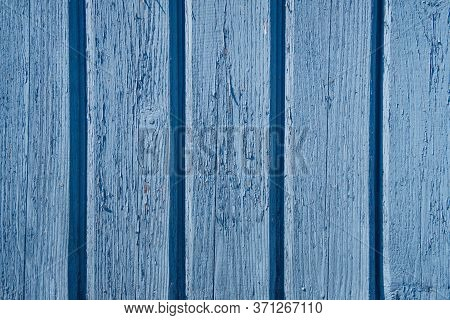 Wooden Texture Of Blue Color Background. Stock Photo Of Rustic Wooden Textured Wall