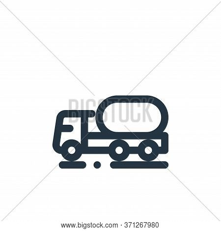Oil Truck Vector Icon. Oil Truck Editable Stroke. Oil Truck Linear Symbol For Use On Web And Mobile