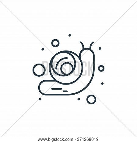 Snail Vector Icon. Snail Editable Stroke. Snail Linear Symbol For Use On Web And Mobile Apps, Logo,