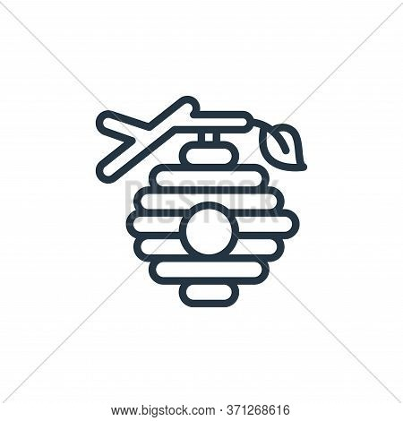 Beehive Vector Icon. Beehive Editable Stroke. Beehive Linear Symbol For Use On Web And Mobile Apps,