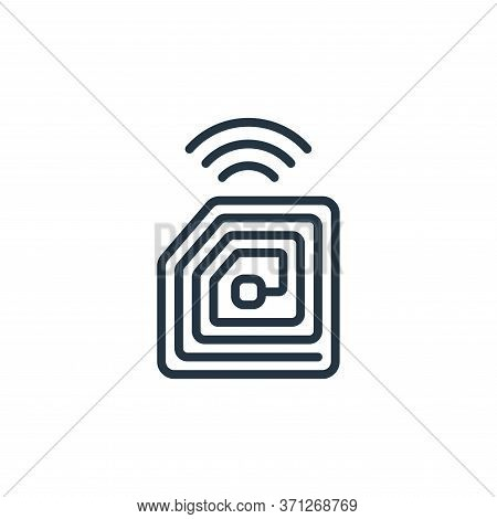 Rfid Chip Vector Icon. Rfid Chip Editable Stroke. Rfid Chip Linear Symbol For Use On Web And Mobile