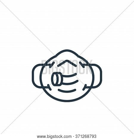 Respirator Vector Icon. Respirator Editable Stroke. Respirator Linear Symbol For Use On Web And Mobi
