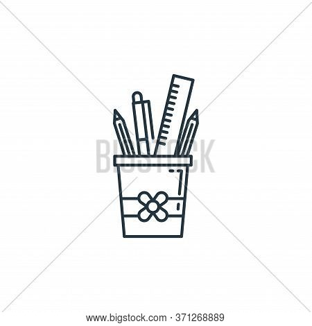Pencil Case Vector Icon. Pencil Case Editable Stroke. Pencil Case Linear Symbol For Use On Web And M